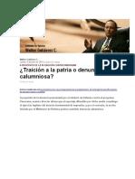 Walter Gutiérrez C,Traición a La Patria