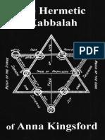 The Hermetic Kabbalah - Anna Kingsford