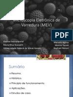 Microscopia Eletrônica de Varredura (MEV)