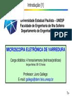 Microscopia Eletrônica de Varredura (MEV) 2