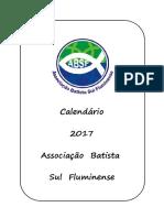 Calendário ABSF-2017