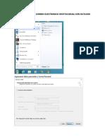 Manual Configuracion de Correo Electronico Institucional Con Outlook