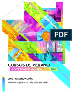 Curso Verano Cine y Gastronomia