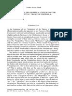 Vasubandhu's Philosophical Critique of the Vatsiputriyas' Theory of Persons