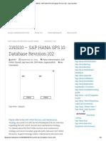 2193110 – SAP HANA SPS 10 Database Revision 102 – Sap Hana Wiki