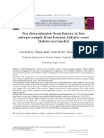 [Anthropological Review] Sex Determination From Femora in Late Antique Sample From Eastern Adriatic Coast (Salona Necropolis)