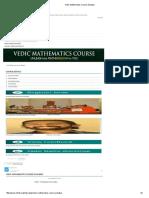 Vedic Mathematics Course Syllabusp-2