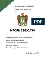 Informe Niño Caso - Atención a la diversidad - Adecuaciones