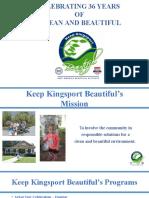 Keep Kingsport Beautiful - 2016 Report