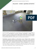 Podloga Za Finalni Sloj Poda – Izrada i Ugradnja Cementne Košuljice - Časopis Podovi
