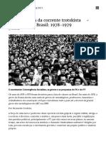 1.5 - A) Breve História Da Corrente Trotskista Morenista No Brasil_ 1978-1979 - OK