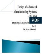 Introduction to Manufacturing Lec 1 [CH 1 & 2 of Groover Book]