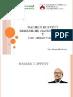 Warren Buffett, Berkshire Hathaway Inc. y Goldman Sachs