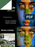 Nirma in Africa