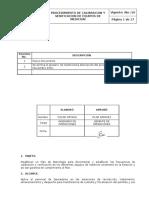 3. Procedimiento Calibración y Verificación Equipos de Medición