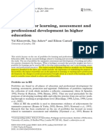 portfolios for learning assessment and professional development