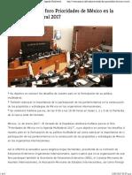 11-01-17 Realizará Senado Foro Prioridades de México en La Agenda Multilateral 2017 - Veracruzanos.info