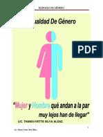 Taller Equidad de Genero. p Imp