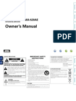 Denon PMA 520AE 720AE Owners Manual