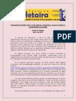 Propuestas de cambio tanto a nivel nacional, autonómico y local en relación a la prostitución y a la trata