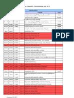 Calendario Provisional Fag Gr2017