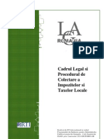01 Colectarea Impozitelor Si Taxelor Locale