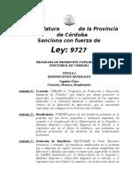 Ley 9727-Promocion Industrial