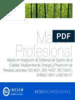 Master Integracion Sistemas Gestion Calidad Medioambiente Energia Prevencion