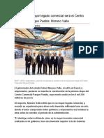 12.01.17 Mi mayor legado comercial será el Centro Comercial Parque Puebla- Moreno Valle