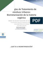Biometanización de La Materia Orgánica
