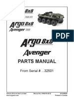 8x8 Avenger Parts Manual 8X8AVG-2012 2012-01-03 From Serial No 32501