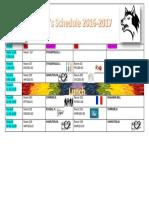 ms word timetable kaleigh
