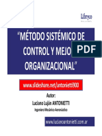 Metodo sistemico de control y mejora organizacional - Luciano Lujan ANTONIETTI.