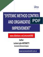 Systemic Method Control and Organizational Improvement - Luciano Lujan ANTONIETTI