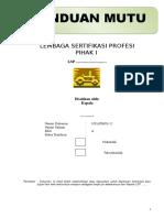 PANDUAN MUTU LSP P1.doc