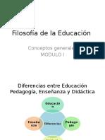 Filosofía Educación 2014 1