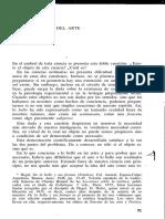 Necesidad y Fin Del Arte (Hegel)