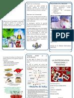 Triptico Biotecnologia Tradicional y Moderna
