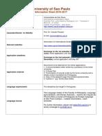 USP- Information Sheet 2016-2017