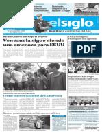 Edición Impresa Elsiglo 14-01-2017