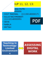 Teaching in Technology-Limited Environments and ASSESSING DIGITAL WORK