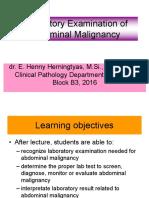 Laboratory Examination of Abdominal Malignancy-E Henny Herningtyas (2016)