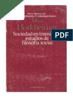 Hokheimer Max - Sociedad en Transicion Estudios de Filosofýa Social
