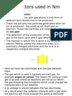 Detectors Used in Nm