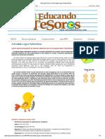 Educando Tesoros_ Actividades Lógico Matemáticas