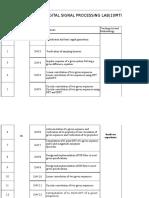 Lesson Plan DSP Lab(10MTL78)