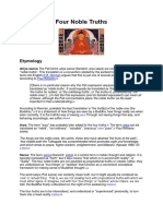 Four Noble Truths in Buddhism