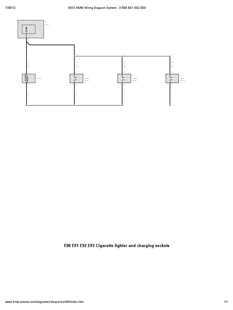 wds bmw wiring diagram system - 3 e90 e91 e92 e93  scribd