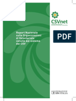 Il primo rapporto nazionale del Csvnet sulle organizzazioni di volontariato