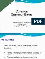 Common Errors in Grammar